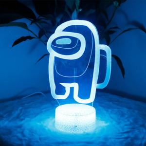 Among Us 7 Color Changing LED Lamp Room Décor Xmas Bedside Lamp Teen Imposter