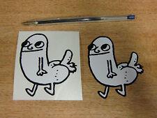ADESIVI dickbutt-NERO + Bianco-Coppia di 75mm Decalcomanie-Internet Meme