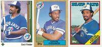 Cecil Fielder lot of 3 different Toronto Blue Jays Baseball Cards