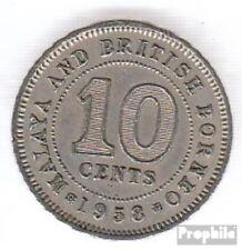 Brit. Malaya und Nordborneo 2 1953 sehr schön Kupfer-Nickel 1953 10 Cent