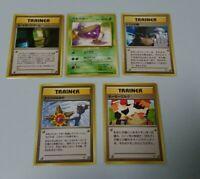 (VG) Banned Japanese Pokemon Cards 5 Set RARE!! Misty Sabrina Grimer Moo-Moo