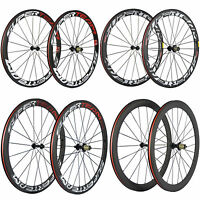 SUPERTEAM 50mm Clincher Carbon Wheels R13 Carbon Road Bike Wheelset Basalt Brake
