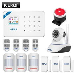 Système d'alarme de sécurité domestique sans fil , Wi-Fi, GSM avec application