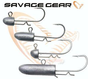 Savage Gear Bullet Jig Heads for Squid Eels Soft Plastic Predator Lures Sandeel