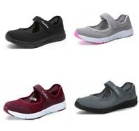 Women's Non-skid Comfy Casual Strap Mesh Hollow Out Flat Sneakers Sport Shoes