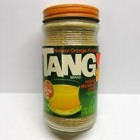 Vintage 1980s TANG Orange Instant Breakfast Drink SEALED Full Glass Jar 80s