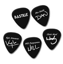 BASTILLE DAN SMITH KYLE WILL CHRIS signature print plectrum guitar picks picks