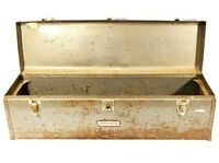 "Vintage Metal Tool Chest Craftsman Toolbox 30"" Large Workshop Storage"