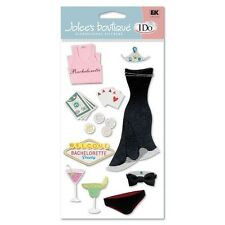 WEDDING Bachelorette Party Bride Poker Drinks Jolee's Stickers Scrapbook