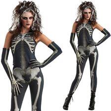 Señoras vestido elegante esqueleto skelee Chica Halloween Traje de Disfraz