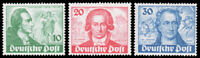 Berlin #9N61-9N63 1949 GOETHE SET VLH & NH CV$161.06