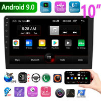 10.1 Inch Android 9.0 Head Unit Car Stereo GPS Sat Nav Radio 2Din Touch USB WIFI