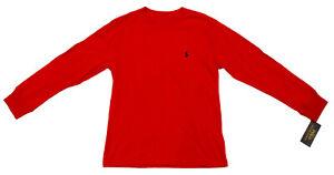 Ralph Lauren Boy's Long Sleeve Crew Neck Cotton T-Shirt - Size S Small (8) NWT