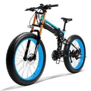 Electric Bicycle 1000W 48V Ebike 26inch Folding Mountain Bike Fat Tire Snow Bike