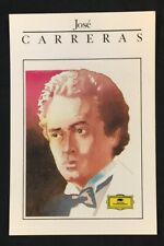 1990's JOSE CARRERAS Spanish Tenor PolyGram Records official postcard