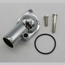 For SB BB Chevy Chrome plated Water Neck Thermostat Housing 15° 350 454 Block
