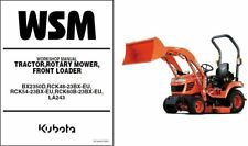 Kubota BX2350D Tractor Mower Loader WSM Service Workshop Manual CD -  BX2350 D