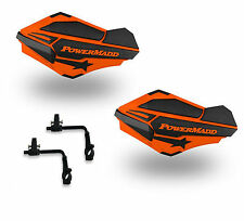 Powermadd Sentinel Handguards Guards Tri Mount Orange Black Utility ATV Polaris