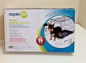 "Aspen Pet Metal Training Dog Kennel Training Crate Cage & Tray 19"" x 11"" x 13"""