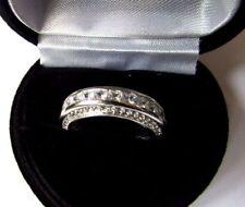 Lab-Created Christmas Band Fine Diamond Rings