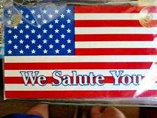 """""""We Salute You Flag"""" Window Suction Cups for Home, Car, School, Work, Multi Uses"""
