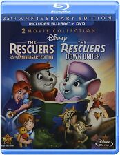 THE RESCUERS (35th Anniv) /RESCUERS DOWN UNDER  -  Blu Ray - Sealed Region free