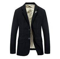 New Mens Military Outdoor Slim Fit Jacket Casual Bussiness Solid Colour Coat