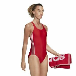 Adidas Women's Swimsuit - Athly V 3 Stripes Swimsuit