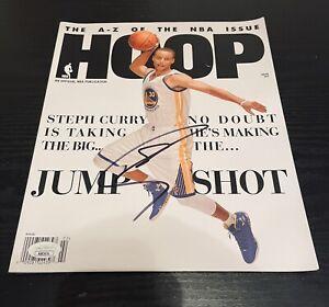 Stephen Curry Autographed Hoop Magazine Golden State Warriors/ JSA