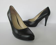 Nine West Womens Lovely Black Leather Soft Pointed Toe Heels Pumps Shoes 8 M