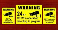 CCTV in operation safety camera Sign 20cmx15cm rigid video recording