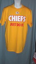 7367ff1f0 Kansas City Chiefs NFL (yellow) Nike Just Do It T Shirt Size Mens M