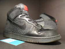 Nike DUNK HI PREMIUM QS MIGHTY CROWN BLACK RED CEMENT GREY WOOL 503766-001 11.5