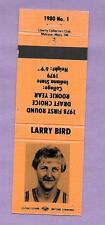 LARRY BIRD CELTICS ROOKIE CARD RC 1980 MATCH BOOK STRIKER NBA BASKETBALL *ORANGE