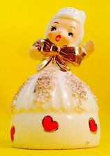 Very Rare! Cute Cupcake Candy Hearts Lefton Girl Bell Vintage Figurine