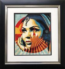 "Shepard Fairey  ""Target Exceptions"" CUSTOM FRAMED Art Print Graffiti St"