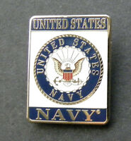 US NAVY USN RECTANGLE LAPEL PIN BADGE 1 INCH UNITED STATES