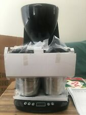 New Cook's Essential Take Two Coffee Maker With Two Stainless Steel Travel Mugs
