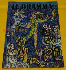 IL DRAMMA 1952 n. 161 - Copertina Emanuele Luzzati  - Opere: vedi inserzione