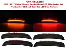 2015 2016 2017 DODGE CHARGER SMOKED LENS LED SIDE MARKER LIGHTS FRONT & REAR SET