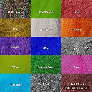 KRYSTAL FLASH 15 COLOURS FLY TYING MATERIAL FROM FLYNSCOTSMAN TACKLE CRYSTAL FT