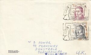 C4560 Easter Island Isla De Pascua Feb 1978 cover to UK, 2 stamps