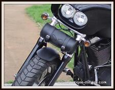 Trousse sac a outil en Cuir rond tete de mort Skull Pour moto custom harley