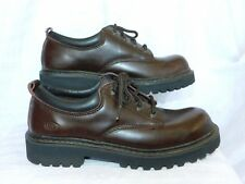 SKECHERS SZ-8 M RELAXED BROWN  LEATHER OXFORD SHOES