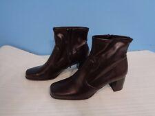 Beautiful Women's Convington Dark Chocolate Color Leather Ankle Boots Sz 6.5 M