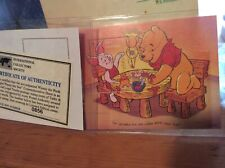Collectible Winnie the Pooh commemorative sheet stamps Turks & Caicos