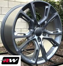 "Jeep Grand Cherokee Wheels 18"" inch SRT8 Spider Monkey 18x8"" Silver Gray Rims"