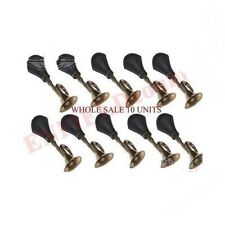 Wholesale Lot 10 Air Blow Horn Brass Made With Fitting Universal Fit Cars Bikes