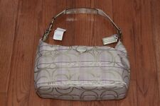 NWT Coach $268 F17209 Signature Plaid Hobo Bag Purse Multicolor