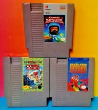 Captain Skyhawk, Solar Jetman Cobra Command Nintendo NES Games Tested Authentic